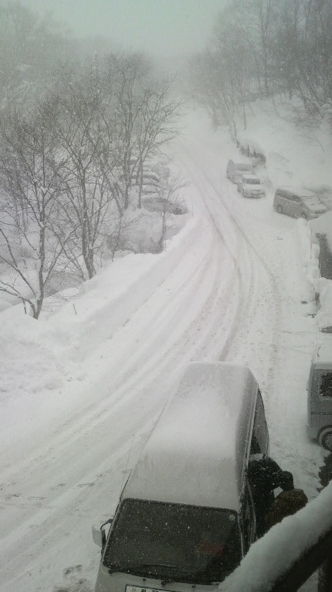 2月11日/<br />  田沢湖は雪のち雲時々晴れ